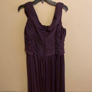 David's Bridal Plum Bridesmaid Dress